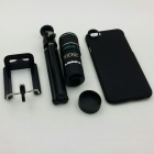 TOCHIC 12X Zoom Telephoto Lens w/ Tripod Mount + Back Case for IPHONE 6 PLUS