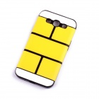 Jigsaw Pattern Protective TPU Back Case Cover for Samsung 9300/S3 - Yellow