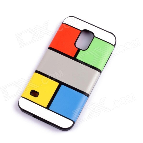 Jigsaw Pattern Protective TPU Back Case Cover for Samsung 9600/S5 - Multicolored jigsaw pattern protective tpu back case cover for iphone 5 5s yellow