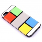 Jigsaw Pattern Protective TPU Back Case Cover for IPHONE 5 / 5S - Multicolored