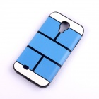 Jigsaw Pattern Protective TPU Back Case Cover for Samsung 9500/S4 - Blue