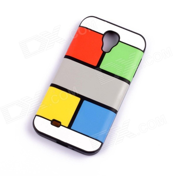Jigsaw Pattern Protective TPU Back Case Cover for Samsung 9500/S4 - Multicolored cm001 3d skeleton pattern protective plastic back case for samsung galaxy s4