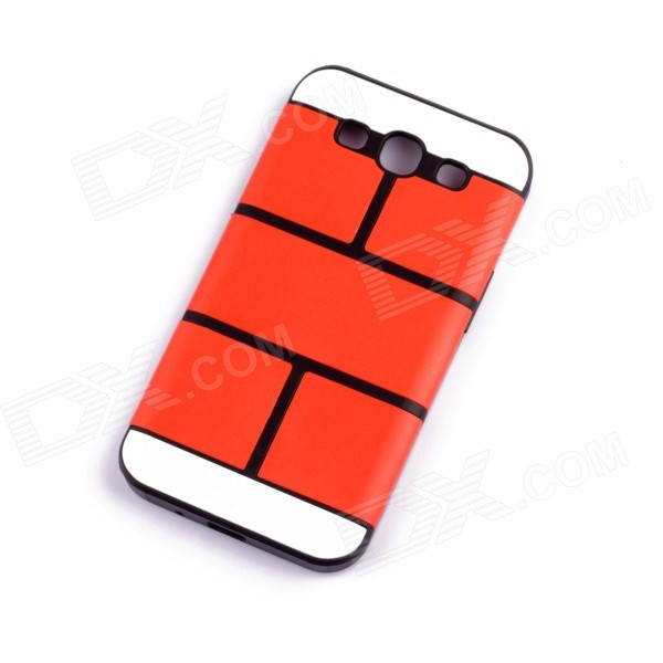 Jigsaw Pattern Protective TPU Back Case Cover for Samsung 9300/S3 - Red a3 9 qi standard wireless transmitter charger receiver module for samsung galaxy s4 i9500 black
