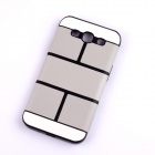 Jigsaw Pattern Protective TPU Back Case Cover for Samsung 9300/S3 - Grey