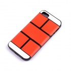 Jigsaw Pattern Protective TPU Back Case Cover for IPHONE 5 / 5S - Red
