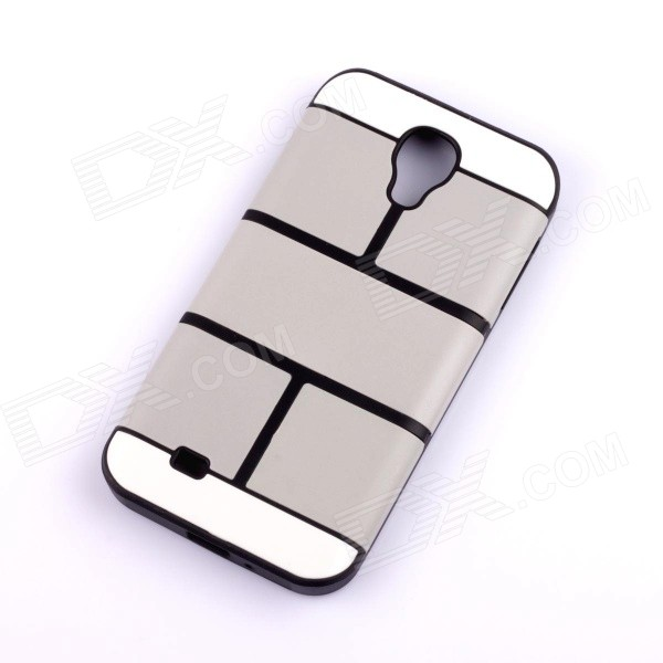 Jigsaw Pattern Protective TPU Back Case Cover for Samsung 9500/S4 - Grey for lg constant current board 6917l 0157a is used