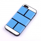 Jigsaw Pattern Protective TPU Back Case Cover for IPHONE 5 / 5S - Blue