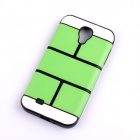 Jigsaw Pattern Protective TPU Back Case Cover for Samsung 9500/S4 - Green