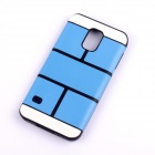 Jigsaw Pattern Protective TPU Back Case Cover for Samsung 9600/S5 - Blue
