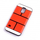 Jigsaw Pattern Protective TPU Back Case Cover for Samsung 9600/S5 - Red