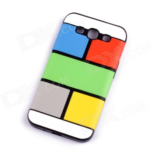 Jigsaw Pattern Protective TPU Back Case Cover for Samsung 9300/S3 - Multicolored jigsaw pattern protective tpu back case cover for samsung 9300 s3 grey