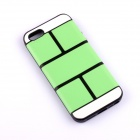 Jigsaw Pattern Protective TPU Back Case Cover for IPHONE 5 / 5S - Green