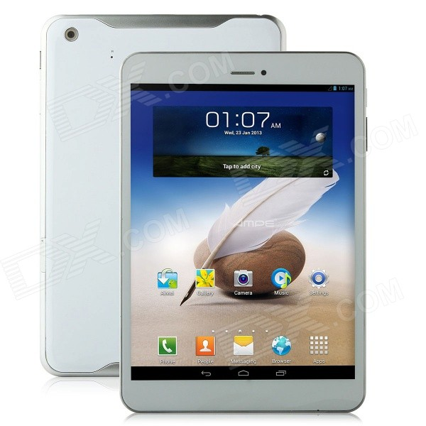 AMPE A80 7.85 Android 4.2 Quad Core 3G Tablet PC w/ 1GB RAM, 16GB ROM, Wi-Fi, Bluetooth,GPS - White блендер philips hr 1677 90