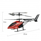 HX713 Rechargeable 27MHz IR Indoor 3-CH R/C Helicopter w/ Gyroscope - Black + Red + Multi-Color