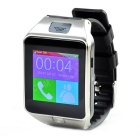 "Z20 1.54"" Capacitive Curved Touch Screen GSM Watch Phone w/ Pedometer, Sleeping Monitor - Silver"