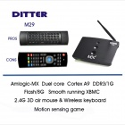 DITTER M29 Dual-Core Android 4.2.2 Google TV Player w / 1 Go de RAM, 8 Go de ROM, XBMC, Air Mouse, EU Plug