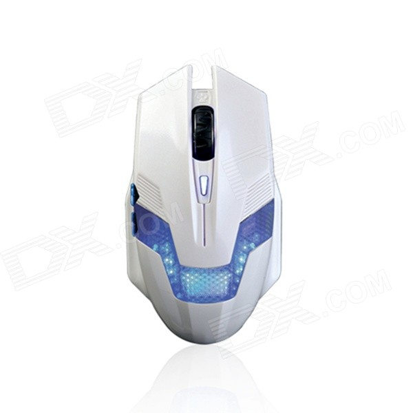Ajazz USB Wired Gaming 6-Button 800 / 1200 / 2000DPI Mouse - White (Cable-170cm)