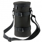 E18 Universal Thickened Protective Nylon Camera Lens Case Pouch - Black