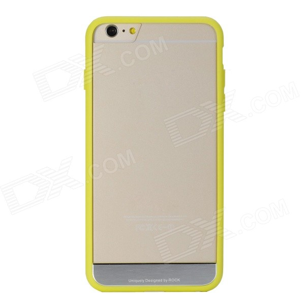 ROCK Protective PC + TPU Back Shell w/ Soft Edging Case for IPHONE 6 PLUS - Yellow + Transparent аксессуар чехол rock jello protective shell for iphone 6 white 69439