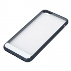 ROCK Protective PC + TPU Back Shell w/ Soft Edging Case for IPHONE 6 PLUS - Deep Blue + Transparent