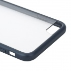ROCA PC protectora + TPU Shell w / Borde de la caja suave para IPHONE 6 PLUS - Deep Blue + Transparente