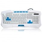 Sunsonny SK-V95 USB Wired Waterproof Keyboard w/ Blue LED Backlit - White