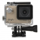 "S30W Water Resistant 1.5"" TFT CCD 1080P HD 150' Wide-Angle Sports Camcorder w/ Wi-Fi - Gold + Black"