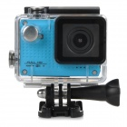 "S30W Water Resistant 1.5"" TFT CCD 1080P HD 150' Wide-Angle Sports Camcorder w/ Wi-Fi - Blue + Black"