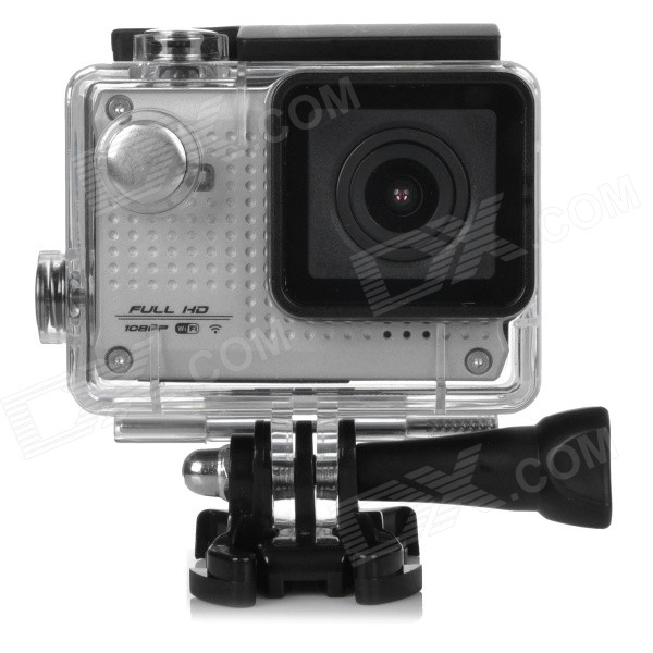 цена на S30W Water Resistant 1.5 CCD 1080P HD 150' Wide-Angle Sports Camcorder w/ Wi-Fi - Silver + Black