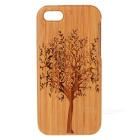 Tree Pattern Protective Bamboo Back Case for IPHONE 5C - Black + Light Brown