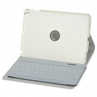 Portable Wireless Bluetooth v3.0 64-Key Keyboard w/ Flip-Open PU Case for IPAD 5 - White