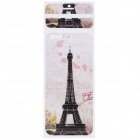 "Eiffel Tower Pattern Decorative PVC Back Protector Sticker for IPHONE 6 PLUS 5.5"" - Brown + White"
