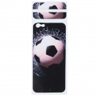 "Football Pattern Decorative PVC Back Protector Sticker for IPHONE 6 PLUS 5.5"" - Black + White"
