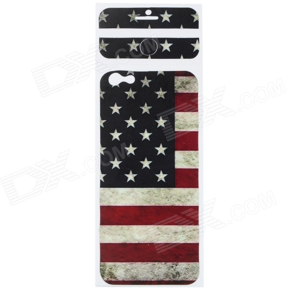 US Flag Pattern Decorative PVC Back Protector Sticker for IPHONE 6 PLUS 5.5 - Red + Deep Blue