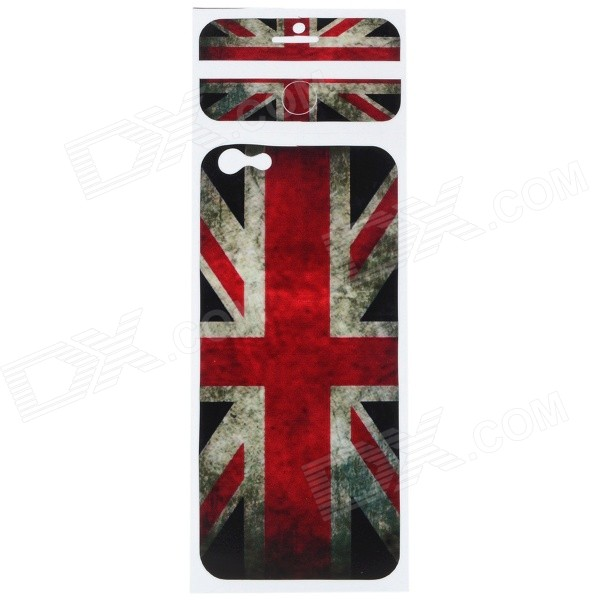 UK Flag Pattern Decorative PVC Back Protector Sticker for IPHONE 6 PLUS 5.5 - Red + Multicolored