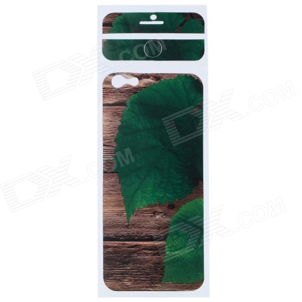 Leaf Pattern Decorative PVC Back Protector Sticker for IPHONE 6 PLUS 5.5 - Brown + Green