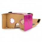 "DIY Google Cardboard Virtual Reality 3D Glasses w/ NFC for 4~7"" Cell Phone - Deep Pink"