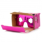 "DIY Cardboard VR 3D Glasses w/ NFC for 4~7"" Phone - Deep Pink"