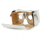 "DIY Cardboard Anti-glare VR 3D Glasses w/ NFC for 4~7"" Phone - Silver"
