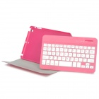 Portable Bluetooth v3.0 59-Teclado com Flip-Open PU caso para IPAD MINI - Deep Pink