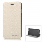 "Stylish Protective Flip-Open PU Case Cover for IPHONE 6 4.7"" - Beige"
