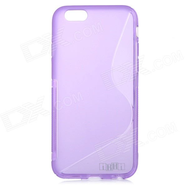 IKKI High Quality S Shaped TPU Back Case for IPHOE 6 4.7 - Purple high quality 100pcs extra strong medical purple powder free nitrile disposable gloves click butyronitrile color s m l 100 ex