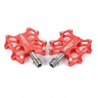 AEST YRPD-07T Lightweight Aluminum Magnesium Alloy Bicycle Bike Pedals - Red (2 PCS)