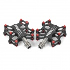 AEST YRPD-07T Lightweight Aluminum Magnesium Alloy Bicycle Bike Pedals - Black (2 PCS)