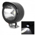 L-221 Universal 3W 180lm 6000K White Light LED Motorcycle Spotlight Headlamp - Black (DC 12~80V)