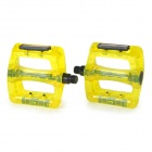 Mountain Bike Bicycle PC Pedals - Yellow + Translucent (2 PCS)