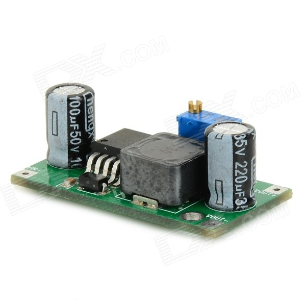 LM2596 DC-DC Step-down Vehicle Power Supply Module - Green dc dc step down module adjust current voltage power supply module green