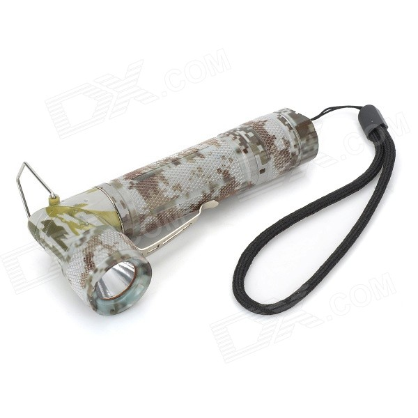Pange Foldable 90-Degree 200lm 3-Mode Cool White Flashlight w/ Cree XP-E Q5 - Digital Camouflage