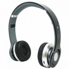 Foldable Wireless Stereo Bluetooth Bass Headphones Supports MP3, FM & TF Card Reader - Black