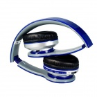 Foldable Wireless Stereo Bluetooth Bass Headphones - Blue
